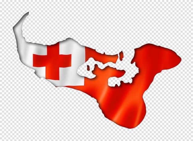 Mapa da bandeira de tonga