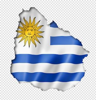 Mapa da bandeira de uruguaia