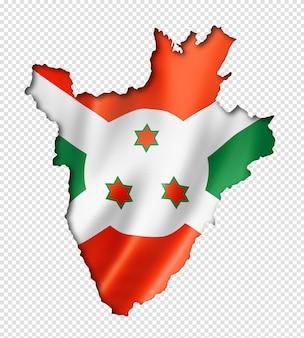 Mapa da bandeira do burundi