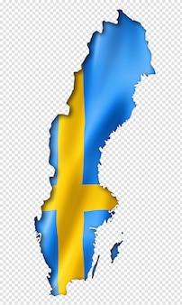 Mapa da bandeira sueca