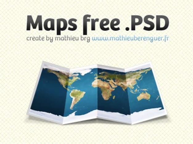 Mapa livre psd