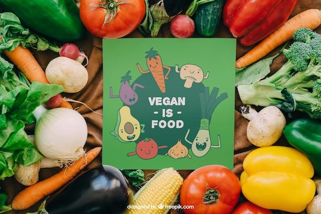 Mapeamento de cartões com design de vegetais