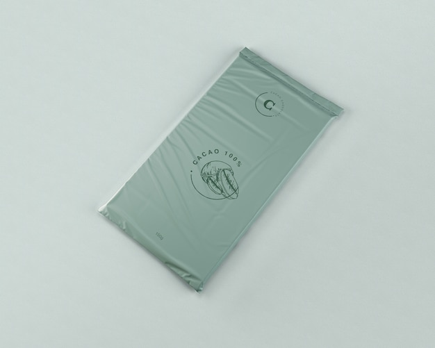 Maqueta de embrulho de chocolate