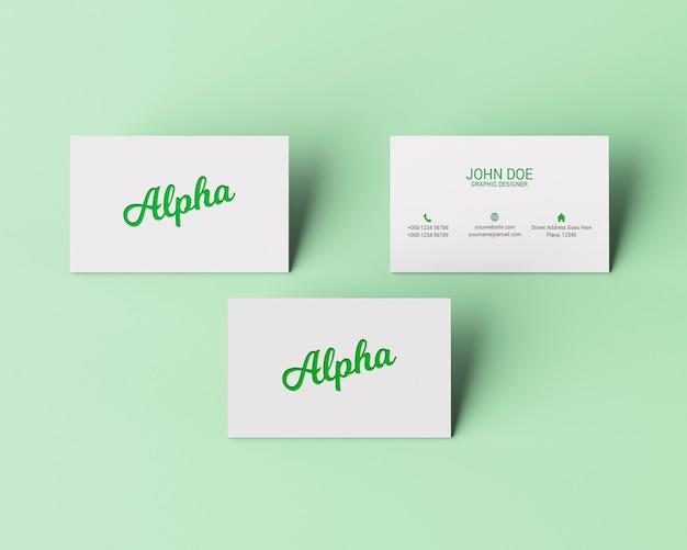 Maquetagem de cartão de negócios