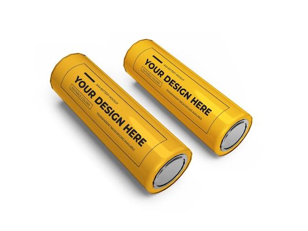 Maquete 3d com bateria aa pequena isolada