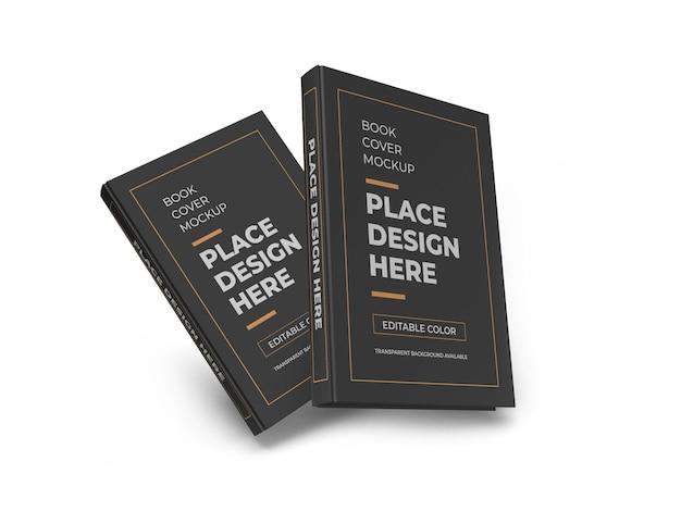 Maquete 3d da capa do livro vermelha isolada Psd Premium