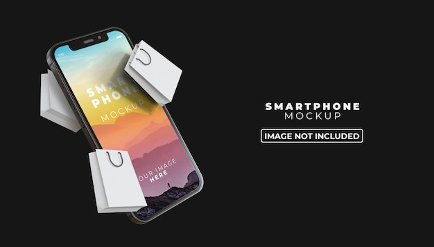 Maquete 3d da tela do smartphone