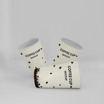 Maquete 3d da xícara de café