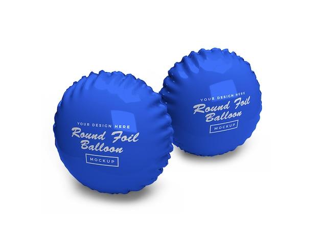 Maquete 3d de balão de folha arredondada