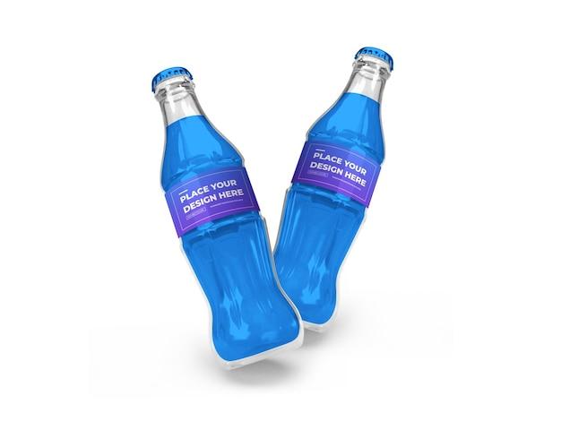 Maquete 3d de garrafa de refrigerante