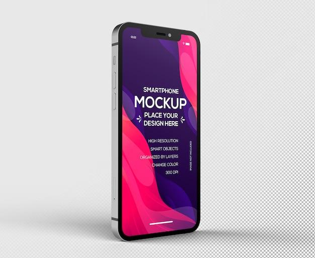 Maquete 3d de smartphone isolado