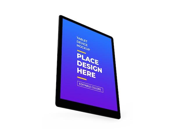 Maquete 3d do dispositivo tablet