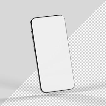 Maquete 3d isolada de smartphone renderização