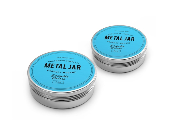 Maquete 3d metal tin jar
