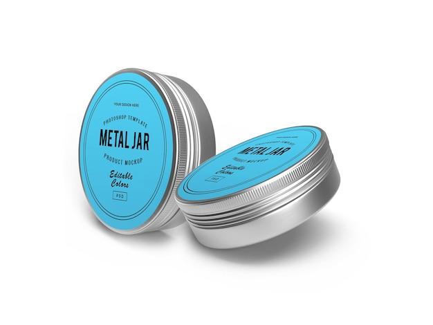 Maquete 3d metal tin jar