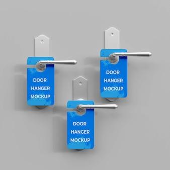 Maquete 3d para cabide de porta