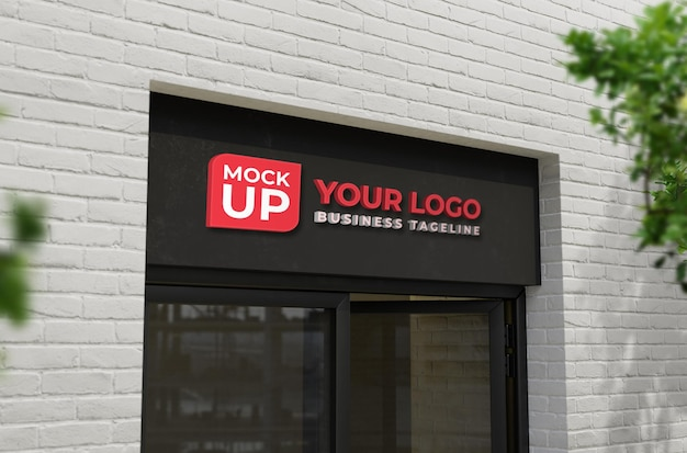 Maquete 3d realista da fachada da loja