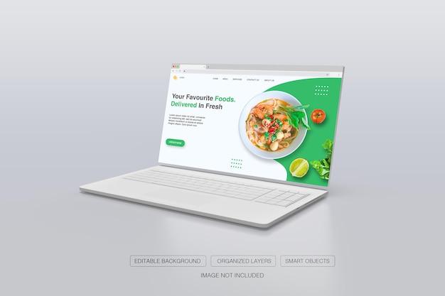 Maquete 3d realista da janela do navegador da internet