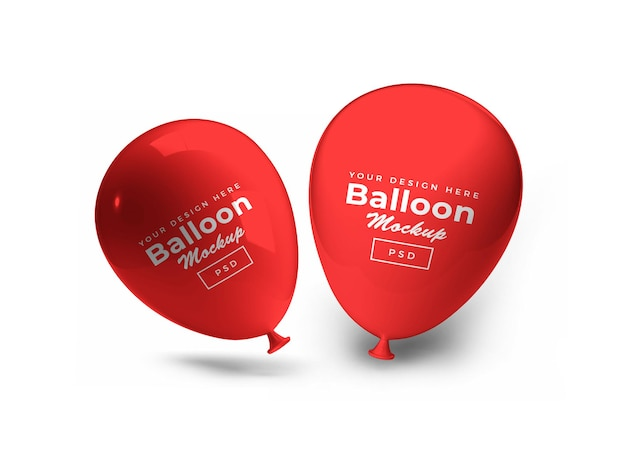 Maquete 3d red party balloon