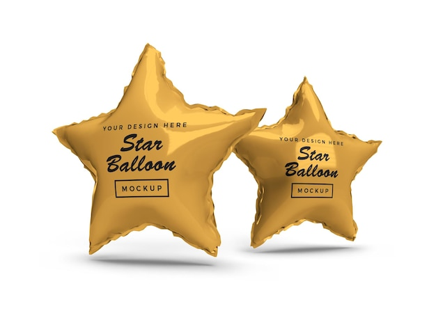 Maquete 3d star foil balloon