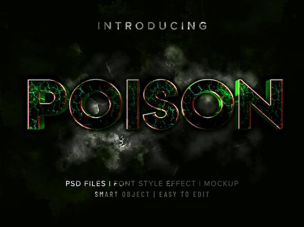 Maquete 3d veneno fonte estilo efeito maquete