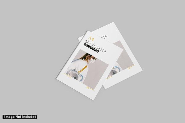 Maquete a4 bifold Psd Premium