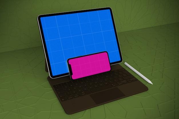 Maquete árabe para celular e tablet