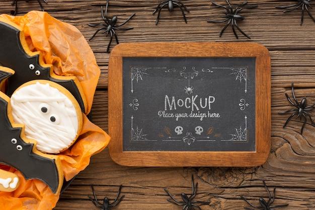 Maquete assustador do conceito de halloween