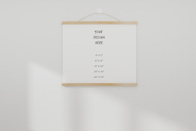 Maquete branco realista moldura vazia