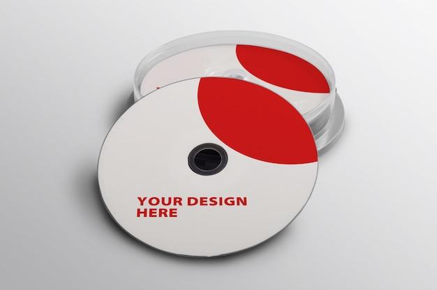 Maquete cd vermelho e branco