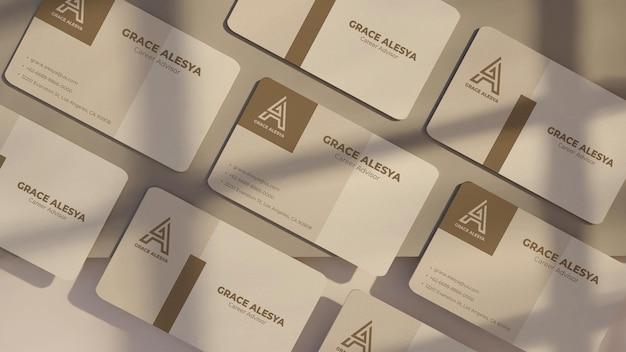 Maquete cinza branco de cartão de visita renderização em 3d