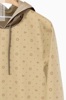 Maquete com capuz pendurado, close-up