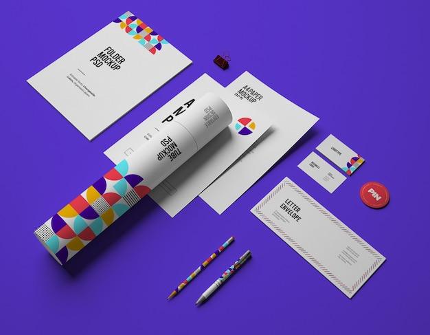 Maquete com cartões de visita
