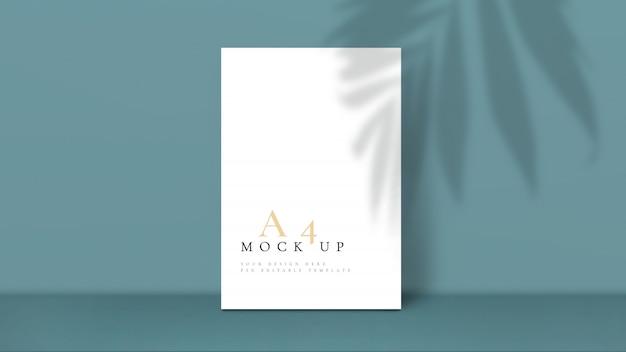 Maquete com modelo de design de sombra de folha de palmeira.