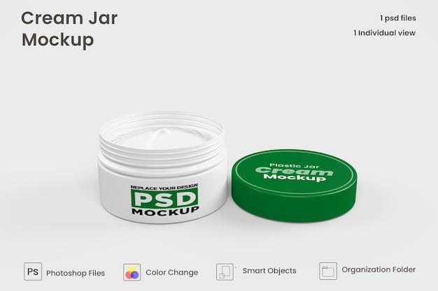 Maquete cosmética do frasco de creme premium psd