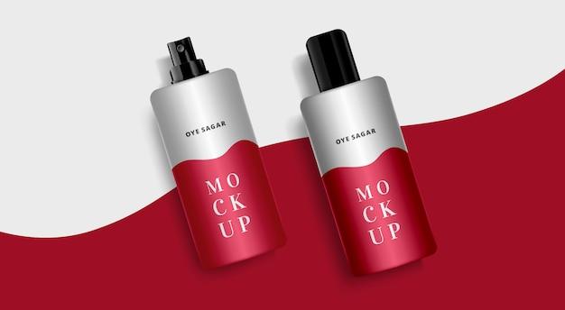 Maquete cosmética em spray ou desodorizante