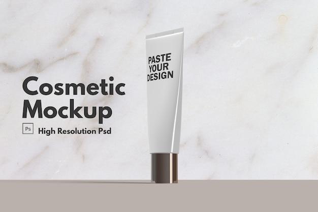 Maquete cosmética hidratante para a pele