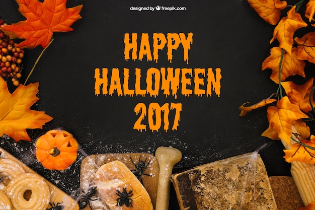 Maquete creativa de halloween