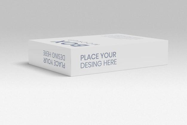 Maquete da caixa com visualização em ângulo reto