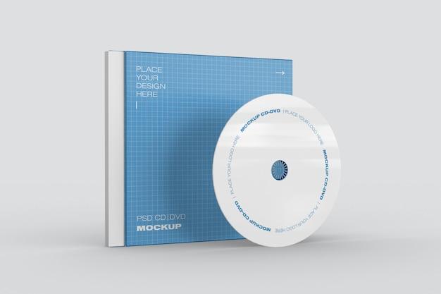 Maquete da caixa de cd / dvd