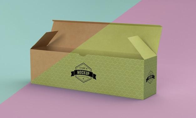 Maquete da caixa de embalagem