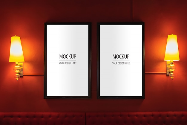Maquete da caixa de luz do cinema de cinema