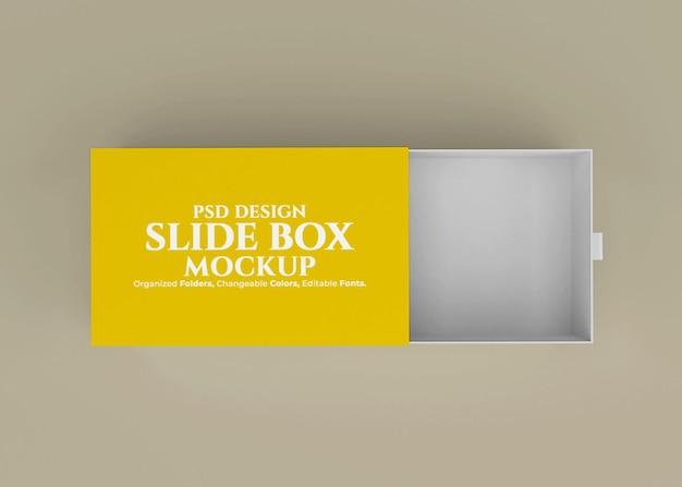 Maquete da caixa de slides com fundo editável