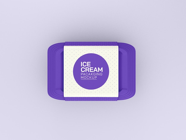 Maquete da caixa de sorvete