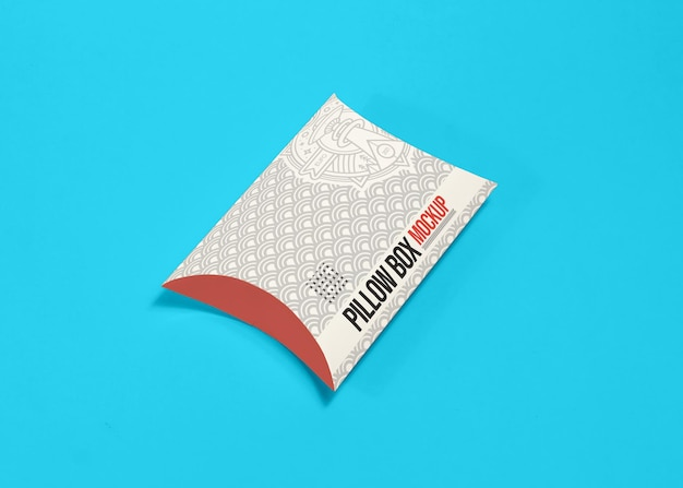 Maquete da caixa de travesseiro da embalagem
