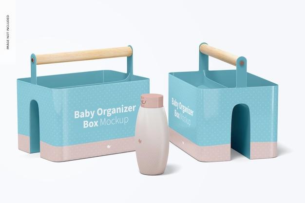 Maquete da caixa do organizador do bebê, perspectiva