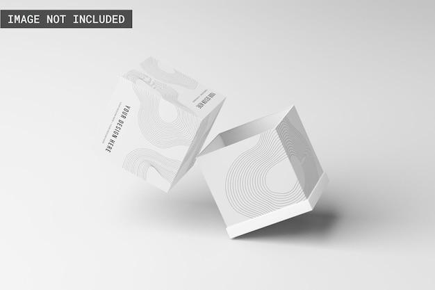 Maquete da caixa do produto aberta