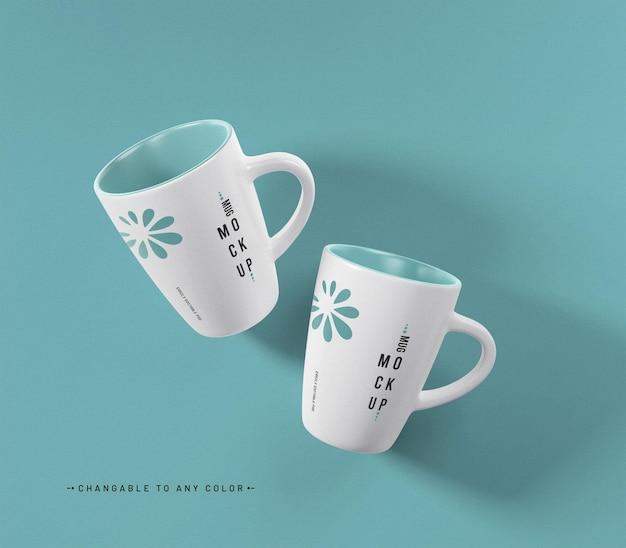 Maquete da caneca de café com cor editável
