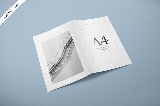 Maquete da capa da revista bifold