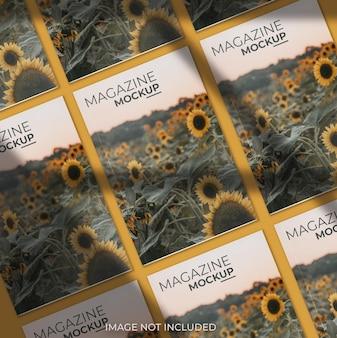 Maquete da capa da revista com vista superior